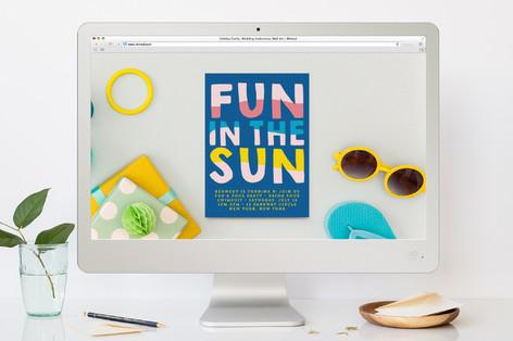 Fun Sun Children's Birthday Party Online Invitations