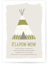 Pow Wow Children's Birthday Party Online Invitations
