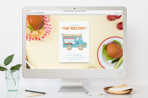 food truck party children s birthday party online minted