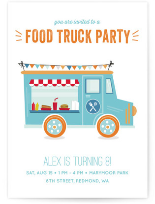 Food truck party childrens birthday party online invitations filmwisefo