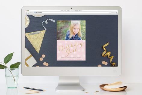 Glitter Girl Children's Birthday Party Online Invitations