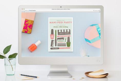 Birthday Mani Children's Birthday Party Online Invitations