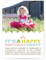 Circus Tent Children's Birthday Party Online Invitations