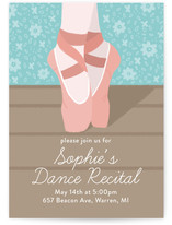 Illustrated Dance Recital Children's Recital Online Invitations