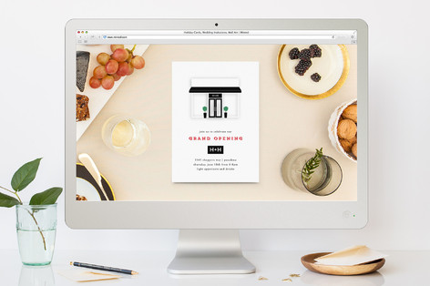 grand opening professional event online invitation minted