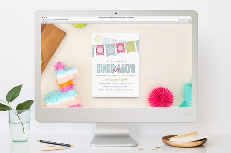 Fiesta Flags Cinco De Mayo Online Invitations