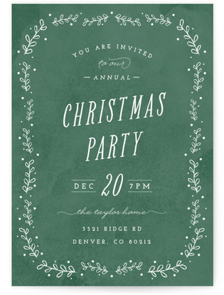 Framed Party Christmas Online Invitations