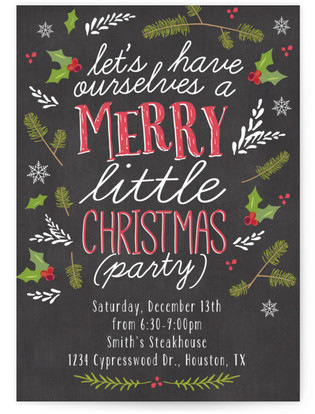 Merry Little Christmas Party Christmas Online Invitations