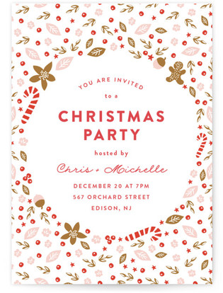 Pretty Party Christmas Online Invitations