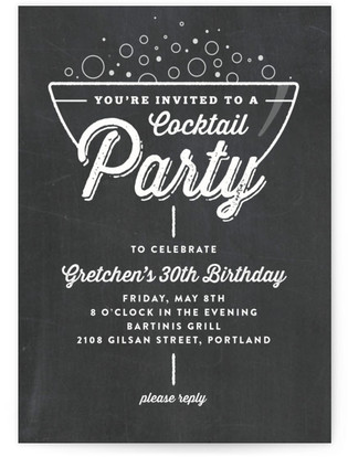 A Little Bubbly Cocktail Party Online Invitations