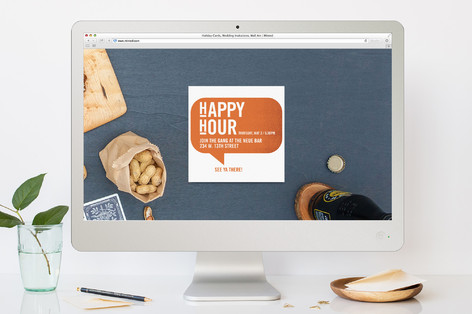 Happy Hour Shout Out Cocktail Party Online Invitations