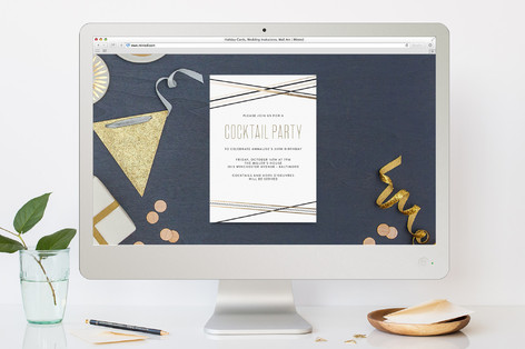 Plaid Pieces Cocktail Party Online Invitations