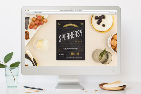 Secret Speakeasy Cocktail Party Online Invitations