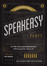 Secret Speakeasy Cocktail Party Online Invitations Minted