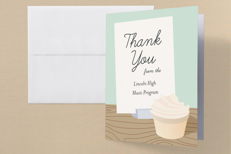 School Bakesale Professional/Charity Thank You Cards