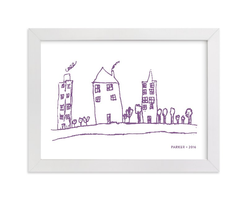 This is a purple art by Minted called Your Drawing as Art Print with standard.