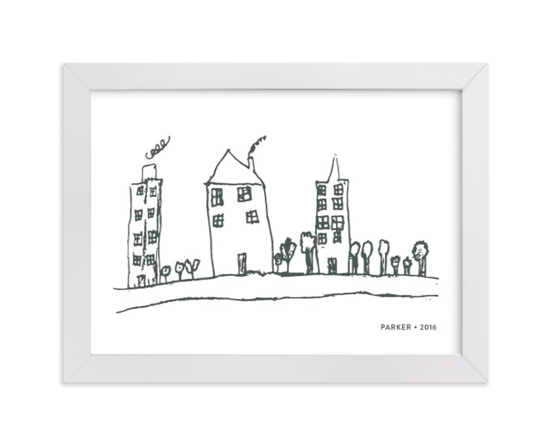 This is a grey art by Minted called Your Drawing as Art Print with standard.