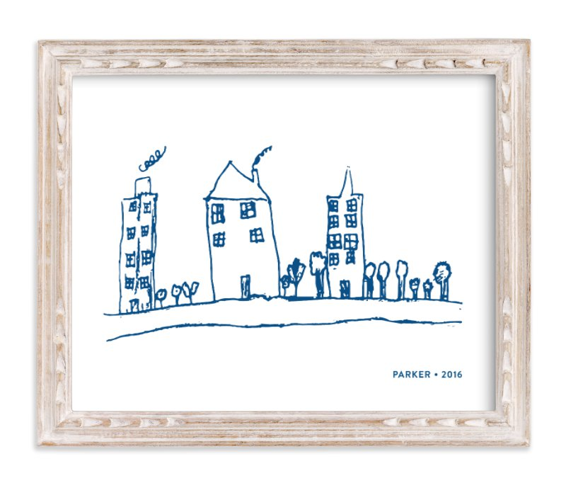 """""""Your Drawing as Art Print"""" - Drawn Digital Art by Minted in beautiful frame options and a variety of sizes."""