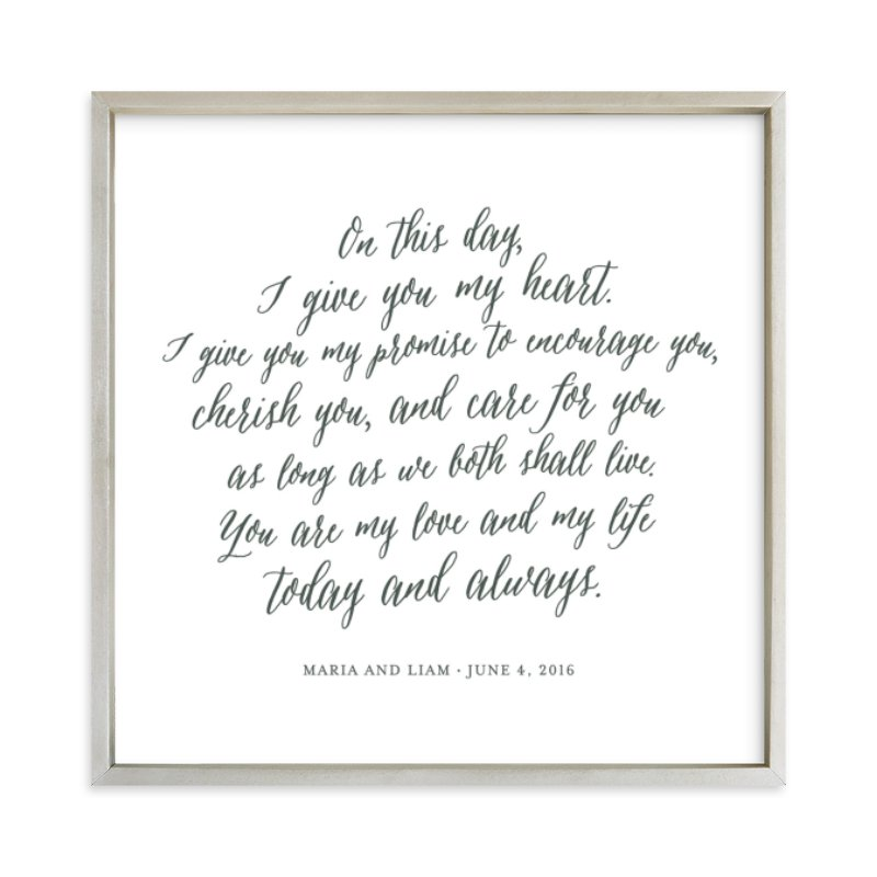 """""""Your Vows as an Art Print"""" - Drawn Digital Art by Minted in beautiful frame options and a variety of sizes."""