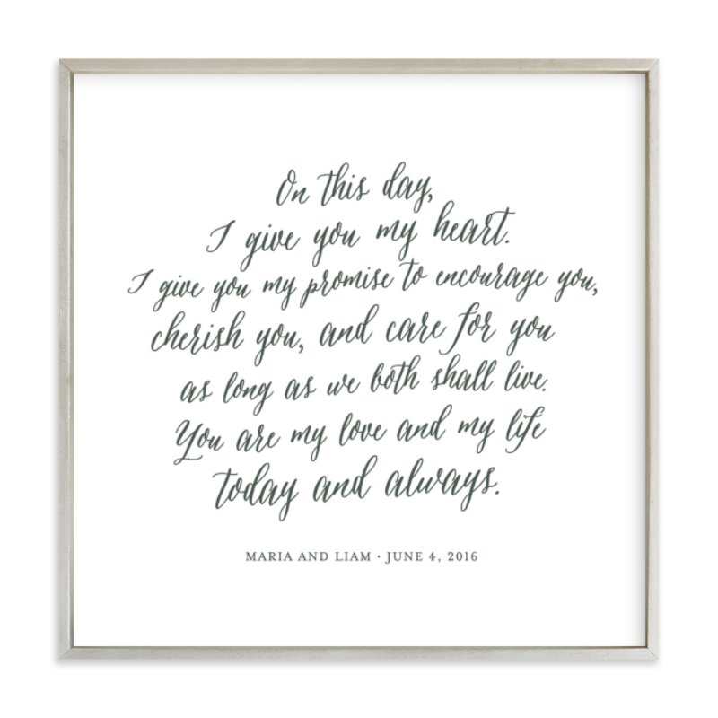 Your Vows as an Art Print Your Drawing As Art Print