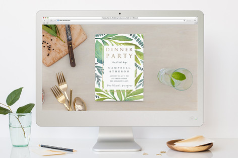 Island Dreams Dinner Party Online Invitations