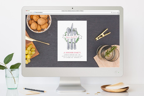 Be Our Guest Dinner Party Online Invitations by Ni Minted