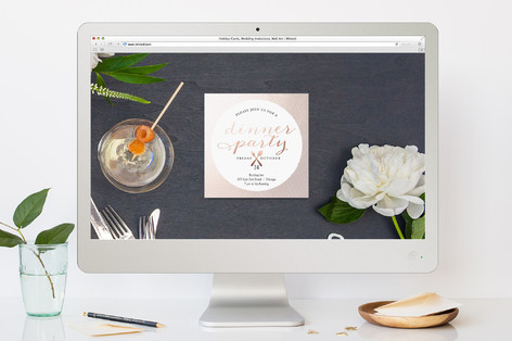 Dinner Party With Pizazz Dinner Party Online Invitations