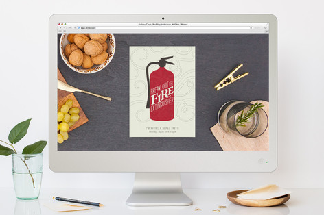 Extinguisher Dinner Party Online Invitations