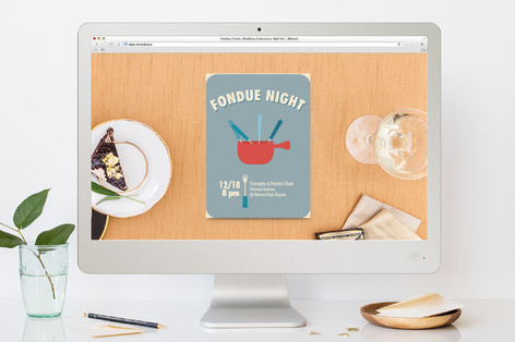 Fondue Night Dinner Party Online Invitations By Gw Minted