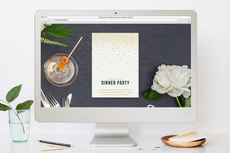Caviar Confetti Dinner Party Online Invitations