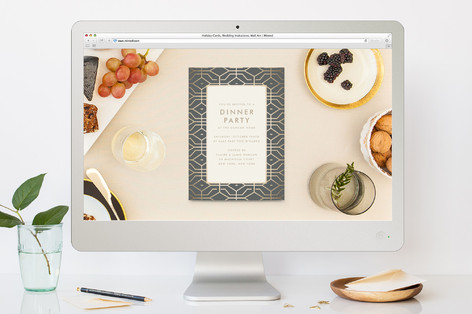 west coast dinner party online invitations by toas minted