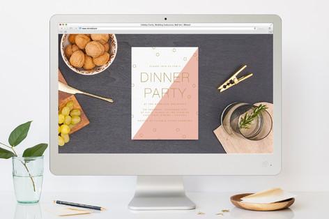 Modern Confetti Dinner Party Online Invitations