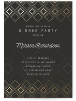 Patterned Diamonds Dinner Party Online Invitations