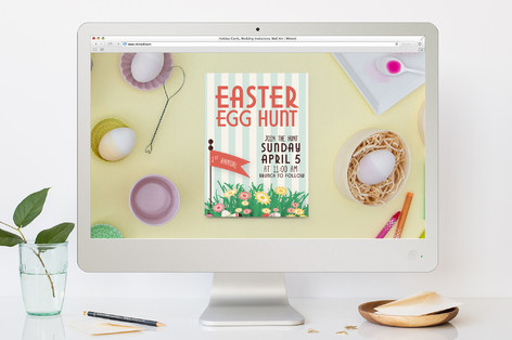 Join the Easter Egg Hunt Easter Online Invitations