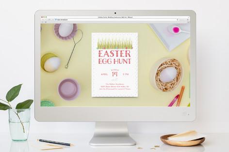 Spring Egg Hunt Easter Online Invitations