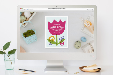 Tiny Tulip Easter Online Invitations