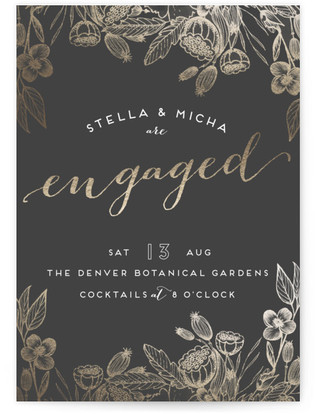Botanical Engagement Engagement Party Online Invitations