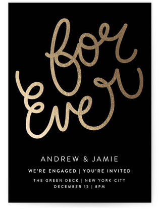 For Ever Engagement Party Online Invitations