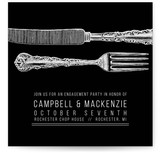 Fork And Knife Engagement Party Online Invitations