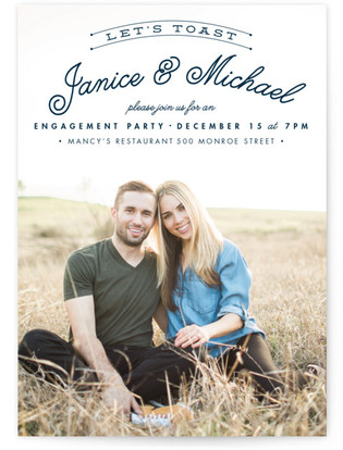 Let's Toast Engagement Party Online Invitations