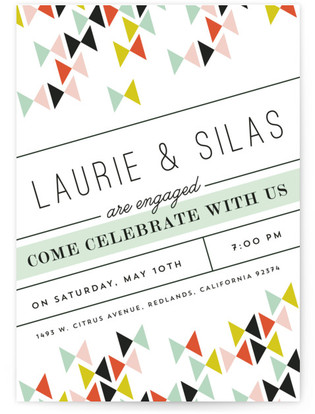 Modern Bows Engagement Party Online Invitations
