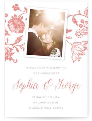 Porcelain Engagement Party Online Invitations