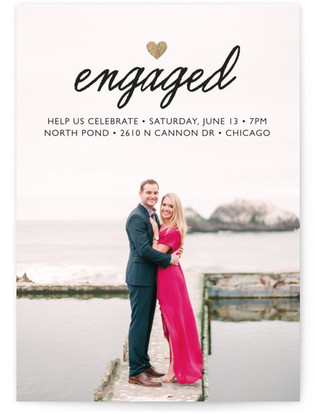 Small Heart Engagement Party Online Invitations