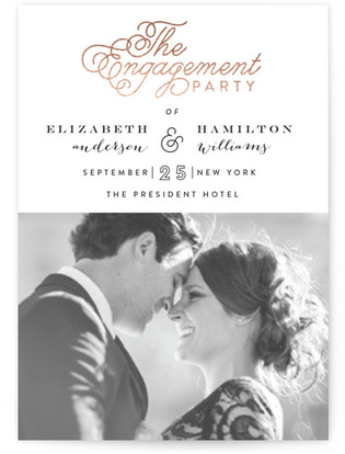 The Fancy Engagement Party Online Invitations