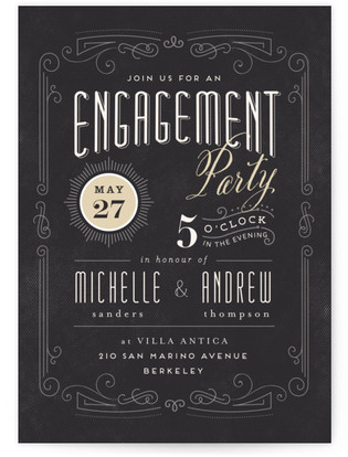 Truffle Engagement Party Online Invitations