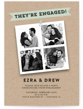 Yes We'Re Engaged! Engagement Party Online Invitations