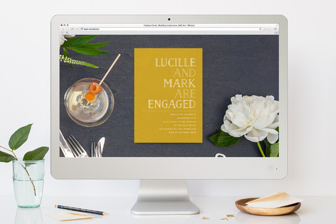 Golden Ticket Engagement Party Online Invitations