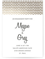 Fringe On Top Engagement Party Online Invitations