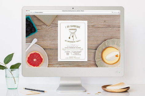 i do bbq engagement party online invitations by la minted
