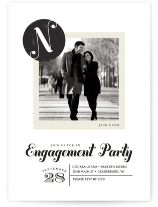 Formal Stamp Engagement Party Online Invitations